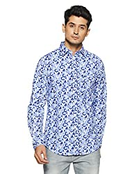 Allen Solly Mens Casual Shirt (8907587977171_AMSF517G005718_44_Blue with White)