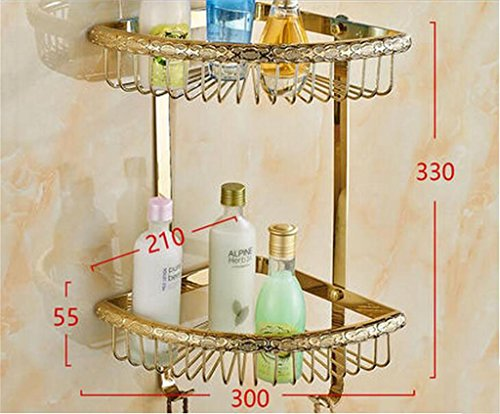 Bathroom Europäische - Style All - Copper Dreieck Badezimmer Winkelrahmen Badezimmer Anhänger Doppelregale ( farbe : 3# ) (3 Light-anhänger-dreieck)