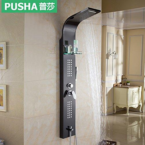 Qwer Wasserhahn Edelstahl Heiße und kalte Dusche Bildschirm Dusche Duschen Paket unter Wasserhahn Massage für Badezimmer - Massage-paket