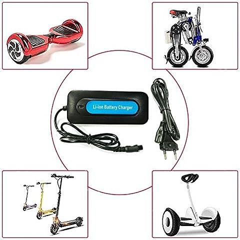 Salida 42 V 2 A eléctrica Stick Smart Balance Rueda Incluso Equilibrio Roller flotante Tabla Power Cargador de la UE