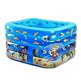 Ren Chang Jia Shi Pin Firm Aufblasbare Badewanne Kinder Badewanne Aufblasbarer Pool Erwachsene Badewanne Whirlpool Familie Pool Baby Badewanne (Color : Blue, Size : 140*95*75cm)