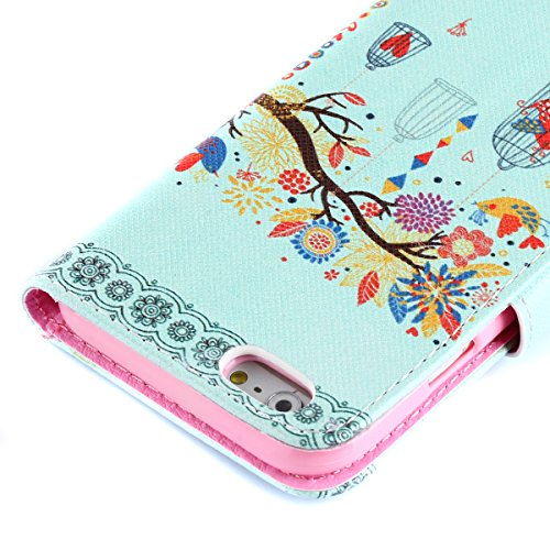 Custodia per iPhone 4s Blu,TOCASO Flip Wallet Case PU Pelle [Bookstyle Design] Portafoglio Cover Ultra Sottile Slim Fit Leather Etui Protettivo Cases Covers Shell Magnet Caso Guscio Copertura ID Credi Color#17