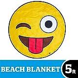 BigMouth Inc. - Toalla Playa Emoji Gigante - XXL Redonda Bano Alfombra