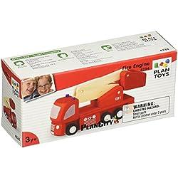 PlanToys PT6234 - Camión de bomberos de madera