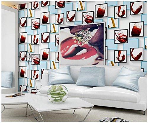 Fond d'écran mode minimaliste en trois dimensions verre motif fond d'écran chambre salon non-tissé moderne télé Restaurant , 123032 blue