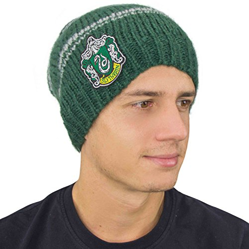 Bonnet Harry Potter - Officiel - Tombant Style Slouchy - Cinereplicas (Serpentard Slouchy)