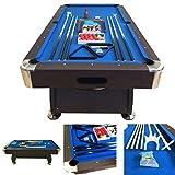 Billardtisch 8 ft Modell VINTAGE Blaumen FULL OPTIONAL Billard Billard-Spiel Messung 220 x 110 cm neue