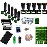 GEO-VERSAND Volwassenen 38 delen Geocaching containers Pakket Petling Filmdoos Verbergen Nano, meerkleurig, 20x10x15