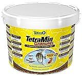 TetraMin Granules (Hauptfutter in Granulatform für alle kleinen Zierfische wie z.B. Salmler und Barben), 10 Liter Eimer