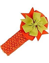 Stirnbaender - SODIAL(R)Stirnbaender Bowknot Haar Accessoires Maedchen Kleinkind Haarband (orange)