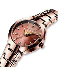 Relojes Mujer Reloj de Acero Inoxidable Clásico de Lujo Analógico Cuarzo para Mujer Vestido de Moda
