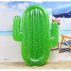 Winthome Flotador Inflable en Forma de Cactus, Flotante Hinchable tamaño Gigante para la Piscina o Playa. (Cactus)
