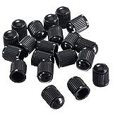 DDG EDMMS - Tapas de plástico Coloridas para válvula de neumático de Coche, Moto, camión, Bicicleta y Bicicleta (50 Unidades), Color Negro