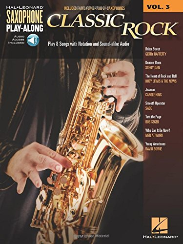 Saxophone Play-Along Volume 3: Classic Rock (Book/CD)