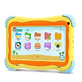 yuntab kids tablet q91 7 pollici google android 5.1 allwinner a33,1.5 ghz quad core,1g+16g,dual camera,wifi,bluetooth (giallo)