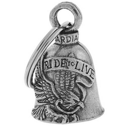 Preisvergleich Produktbild Guardian Bell/Glöckchen, Glücksbringer, Motiv Adler live to ride, Motorrad
