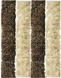 Arsvita Flausch-Vorhang, Viele Variationen, Größe: 100x210 cm, Farbe: Beige-Braun