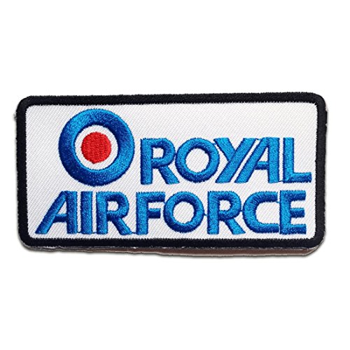 Air Force Applique (ROYAL AIRFORCE Army Patch ''9.3 x 4.7 cm'' - Aufnäher Aufbügler Applikation Applique Bügelbilder Flicken Embroidered Iron on Patches)