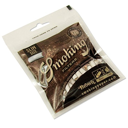 Filter Wrap (Smoking Brown Unbleached Slim Size Drehfilter - 1 Packung â 120 Filter)