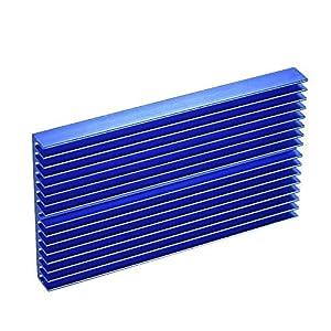 Disipador de calor de aleación de aluminio Módulo radiador Radiador azul Disipador de calor de oxidación con 16 aletas…