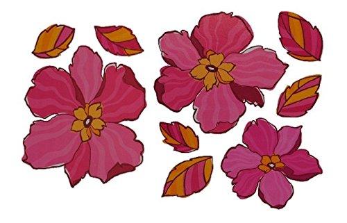 Unbekannt 9 TLG. Set XL Wandtattoo / Fensterbild / Sticker - Blumen Blüte rosa groß - Wandsticker Aufkleber