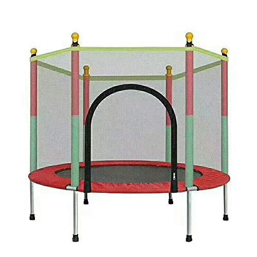 FLY FLU Kinder Mini Trampoline,Gym Trampoline Rebounder Fitness Trampolin Klapptrampolin Mit Netz Mini-Trampolin Für Kinder 55 Inches Für Heimtraining,bis Zu 200 KG
