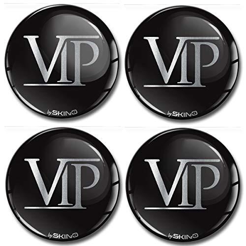 4 x 50mm 3D Adesivi in Silicone per Coprimozzo Cerchione Copricerchi Tappi Ruote Auto Tuning VIP A 6350