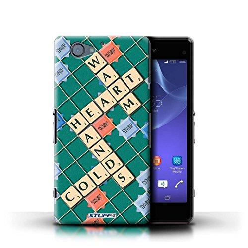 Kobalt® Imprimé Etui / Coque pour Sony Xperia A2 / Coeur Chaud conception / Série Mots de Scrabble Coeur Chaud