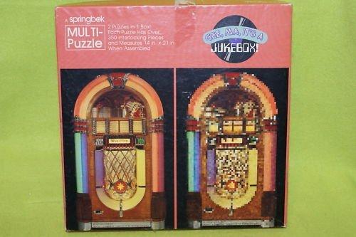 Vintage Springbok Multi-Puzzle - Gee Ma, It's A Jukebox! by Springbok