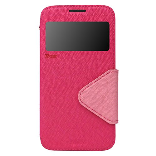 Apple iPhone 5 Flip Case | Premium Handy Tasche | Mit Fenster | Magnetverschluss | Innenhülle aus flexiblem Silikon | Aufstellfunktion | Kartenfach | 100% Passgenau | Passend für iPhone 5 und 5s | Vio Pink