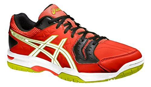 Asics Gel-squad, Chaussures de Handball Homme Cherry tomato / White / Black