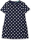 United Colors of Benetton Mädchen Kleid Dress, Blau (Blue 915), One Size (Herstellergröße: EL)