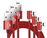 L Form Drehen Runde Geflochtene Magnetische USB C Ladekabel USB 3.1 Typ C Ladegerät Kabel für Samsung Galaxy S8 / S8 + / S9 / S9 + (nur Lade)