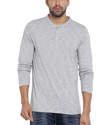American Crew Men's Henley T-Shirt (Grey & White)