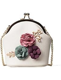 eeca6dff8 Logobeing Bolso de Hombro Bolso de Flores Estéreo Bolso Pequeño Bolso de  Mujer Mano Con Correa