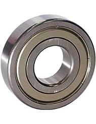 EZO - Roulement à billes à gorge profonde rangée simple en acier inoxydable 6305 ZZ (25x62x17)