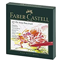Faber-Castell Pitt Çizim Kalemi, Fırça Uç Studio Box, 12 Renk