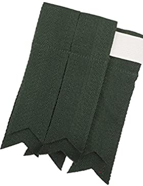 Scottish Adults Wool Kilt Flashes In Green