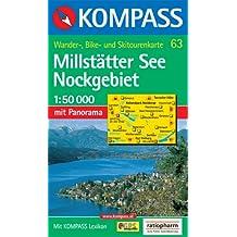Millstätter See, Nockgebiet: Wander-, Bike- und Skitourenkarte. Mit Panorama. GPS-genau. 1:50.000