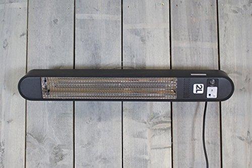 Heizstrahler Elegance – 1500 Watt – Schwarz – Wandmontage - 3