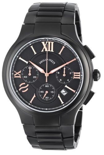 Philip Stein Men's 45B-CRBKRG-SSBP Stainless Steel Watch