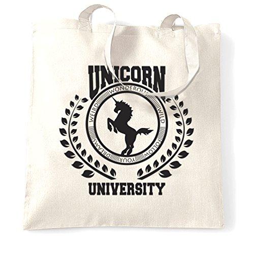 Essere Sempre Un Unicorno Delluniversità Di Magia Stregoneria Stampa Foto Che Porta Borsa Bianca