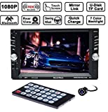 SoundBoss 7inch HD bluetooth MP5 player TFT touch screen FM RDS Radio car video USB TF Aux Input Color screen Car Stereo with night vision rear view camera
