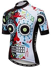 Shenshan Ciclismo Jersey Hombres Ropa Bicicleta Top Camisetas MTB Breathable Jersey Manga Corta Verano cráneo Color