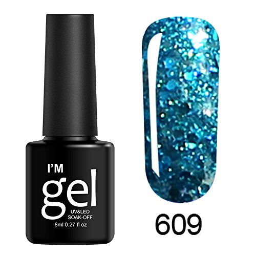 Vernis À Ongles Gel UV 8ml,Brillant polonais Soak Off Nail Art Topcoat Base Coat Gel Vernis Bringbring