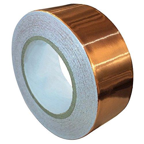 25mm x 20m Multifunktionales Kupferfolienband Abschirmband Kupferfolie Selbstklebend Klebeband Kupferband