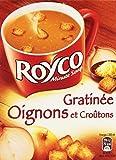 Royco Minute Soupe Soupe déshydratée Gratinée Oignons et Croutons 4 sachets de 20 cl - 62,4 g - Lot de 6