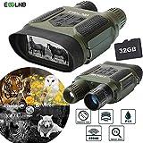 ESSLNB Binokulares Nachtsichtgerät Jagd Militär Infrarot Fernglas mit Nachtsicht mit 8GB Karte und 8 AA Batterien 7X Vergrößerung 4