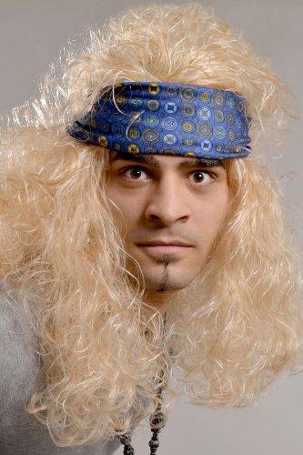 Rocker Perücke blond Heavy Metal Rock n Roll Herrenperücke 80er 90er (In Metal Rocker Heavy Blond Perücke)