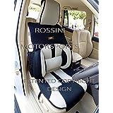 Para adaptarse a un Renault Clio, fundas para asiento, Bo 4Rossini Recaro cubo de malla deportes Beige/Negro, 2frentes
